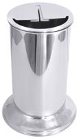 Messerabstreichbehälter 18/10, V: 2,3 ltr., D: 11 cm, H: 30 cm