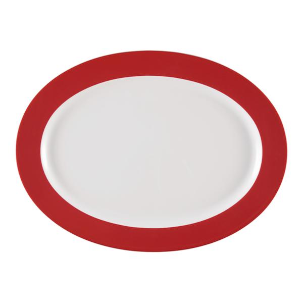 Seltmann Weiden, Meran Springcolors - Platte oval, 23604 rubinrot, 35,0 cm