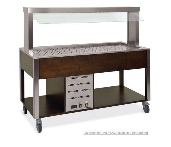 Buffet COOLTIC-V warm, Atemschutz fix und Neon 4x1/1 GN, Wenge