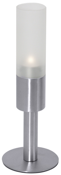 Kerzenhalter auf Fuss, H: 28,5 cm, unten D: 10 cm, Glas D: 5 cm