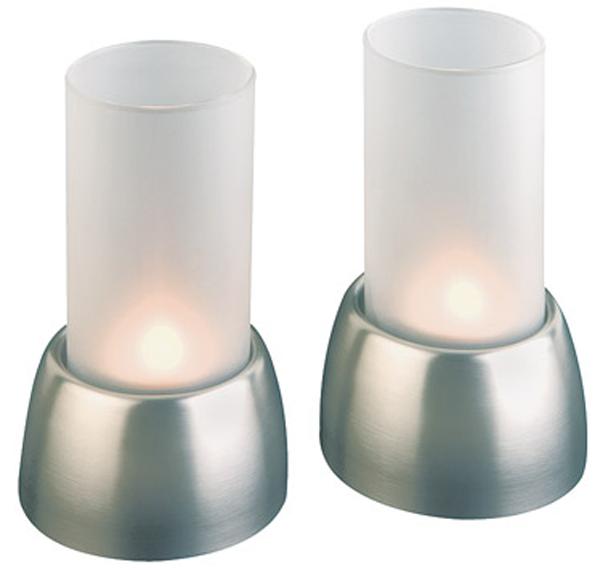 Windlicht, 2er Set, D: 7,5 cm, H: 12,5 cm