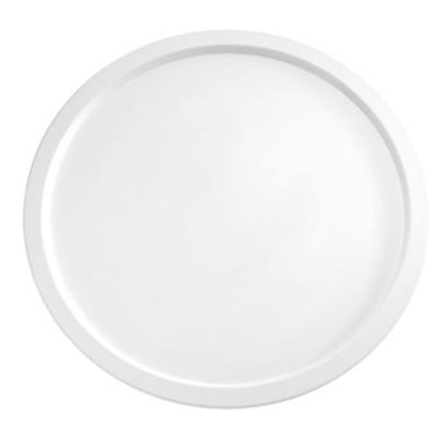 Servierplatte Pure, 38 cm, rund, weiss, uni