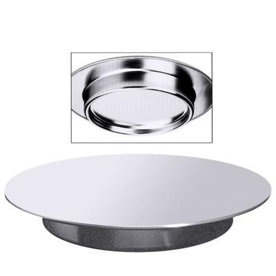 Konditorplatte/ Tortenplatte, D = 32 cm, H = 3,5 cm, EdSt. 18/10, matt poliert
