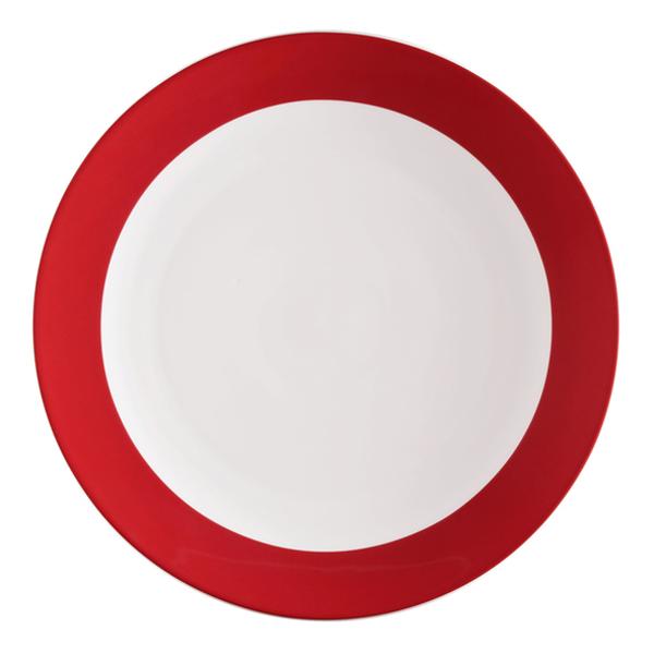 Seltmann Weiden, Meran Springcolors - Teller flach rund 5209, 23604 rubinrot, 25,5 cm
