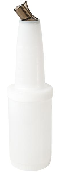 Mix-, Vorratsbehälter, D: 9 cm, H: 33,5 cm, I: 1,0 ltr., Fb. braun