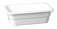 GN-Behälter 32,5 x 26,5 x 10 cm :GN 1/2, weiss, uni
