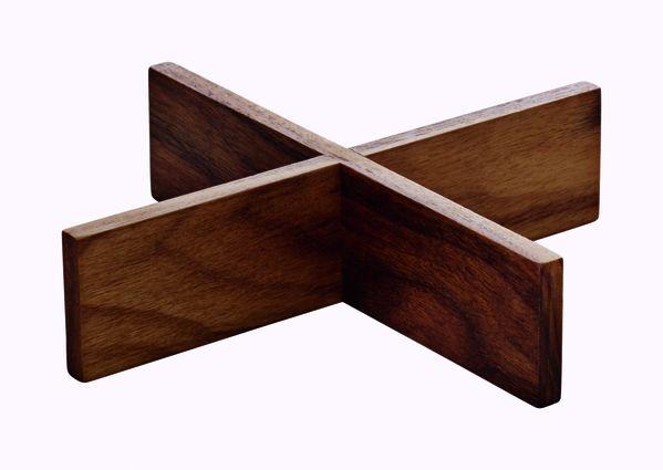 Playground, Ananti Nussbaum - Holzeinsatz eckig 18 x 18 cm/ 4,2 cm