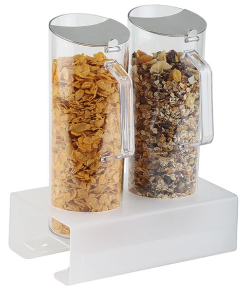 Cerealien-Bar 2 x 1,5 ltr., 5-teilig, 26 x 17 x 17 cm, Ständer: 8 cm hoch