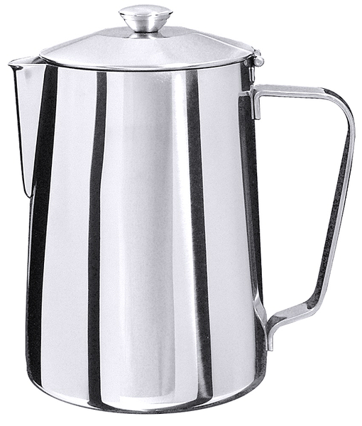 Kaffeekanne, m. Schanierdeckel, EdSt. 18/10, hochglänzend, Inhalt: 1,0 ltr., Höhe: 15 cm