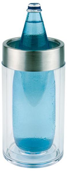 Flaschenkühler, glasklares Acryl, D außen: 11,5 cm, D innen: 9,5 cm, H: 23 cm