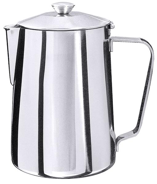 Kaffeekanne, m. Schanierdeckel, EdSt. 18/10, hochglänzend, Inhalt: 1,5 ltr., Höhe: 19 cm