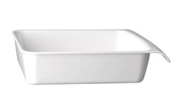Schale Cascade, 32,5 x 26,5 cm : GN 1/2, weiss, uni
