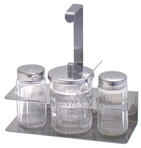 Menage, 3-teilig, L: 15,5 cm, B: 6,5 cm, H: 15 cm