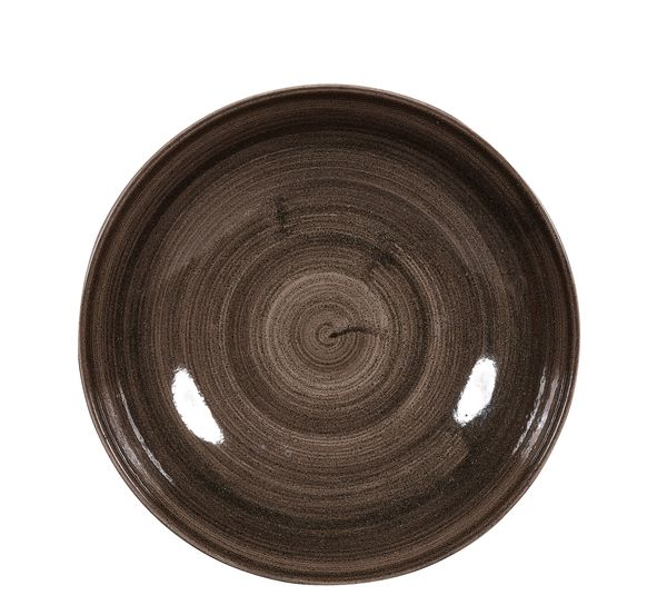 Churchill, Stonecast Patina : Iron Black - Teller flach Coupe, 21,7 cm