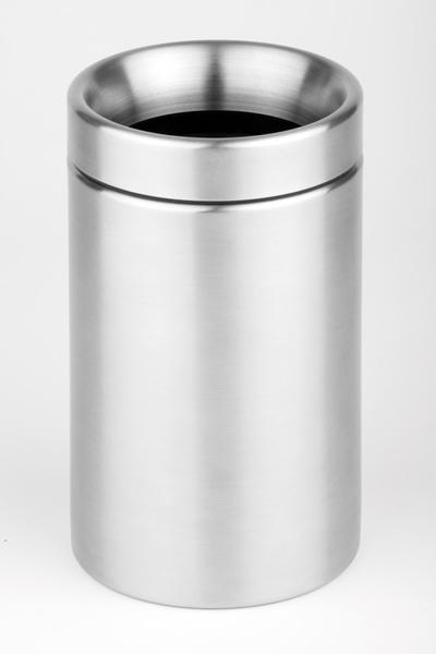 Tischabfallbehälter Sunday, EdSt. Mattiert, D: 12 cm, H: 17 cm