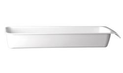 Schale Cascade, 53 x 16,2 cm : GN 2/4, weiss, uni