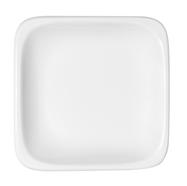Bauscher, B1100 - Teller flach quadratisch 29, weiss, uni, 21,5 x 21,5 cm