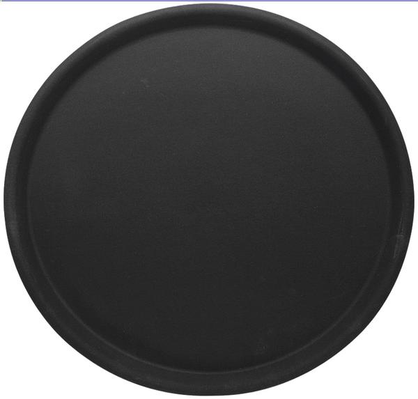 Rundes Tablett, sehr rutschfest, D: 38 cm, H: 1,5 cm