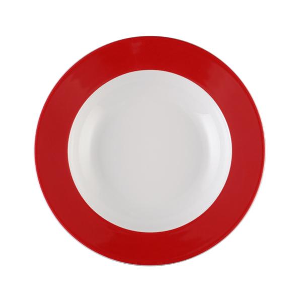 Seltmann Weiden, Meran Springcolors - Teller tief, 23604 rubinrot, 23 cm