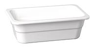 GN-Behälter 26,5 x 16 x 10 cm :GN 1/4, weiss, uni