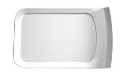 Tablett Cascade, 26 x 16 cm, weiss, uni