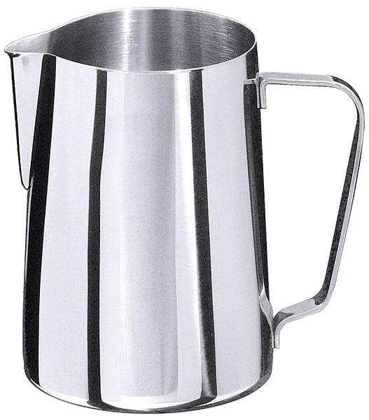 Milch-, Wasserkanne, EdSt. 18/10, hochglänzend, Inhalt: 0,60 ltr., Höhe: 11 cm