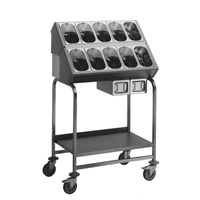 Besteck-, Tablettwagen BLANCO 90 x 60 x 148,5 cm, ca. 120 Tabletts/ ca. 1100 Besteckteile