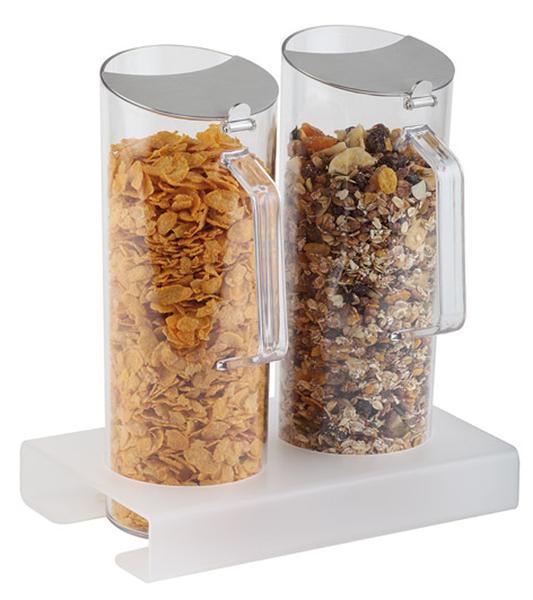 Cerealien-Bar 2 x 1,5 ltr., 5-teilig, 26 x 16,5 x 16,5 cm, Ständer: 4 cm hoch
