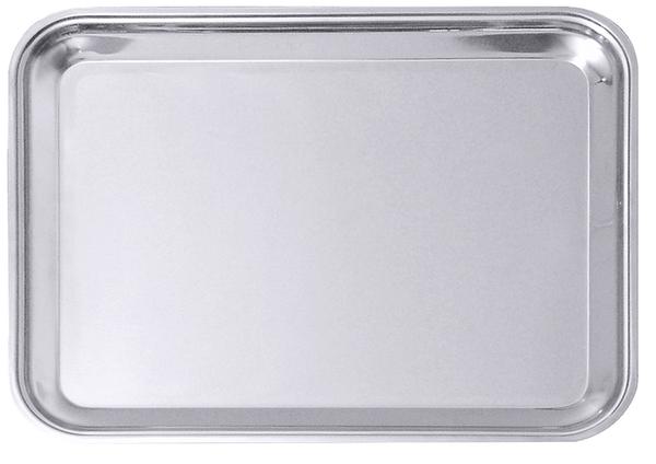 Tablett, rechteckig, hochglänzend, Edelstahl, 52/ 40/ 2 cm