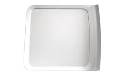 Tablett Cascade, 28 x 25 cm, weiss, uni