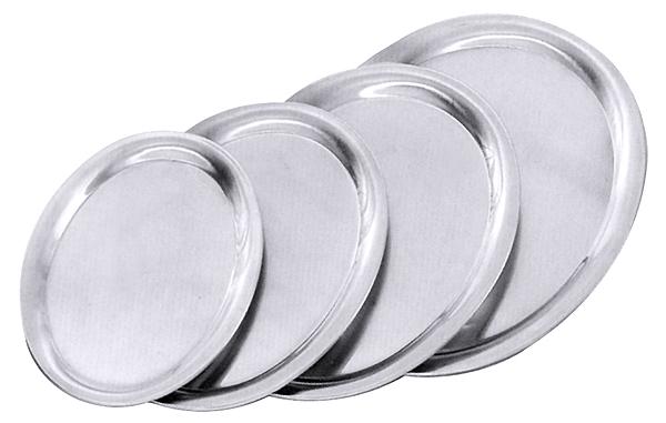 Serviertablett oval, Edelstahl, hochglänzend, L: 26,5 cm, B: 19,5 cm, H: 1,2 cm