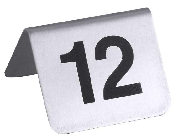 Tischnummernschild Nr. 1 - 12, 5,3 x 4,5 cm