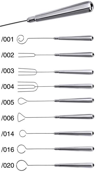 Tunkgabeln, Dreieck, G: 2,4 cm, L: 21 cm