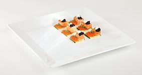 Tablett Pure, 21 x 21 cm, quadratisch, weiss, uni