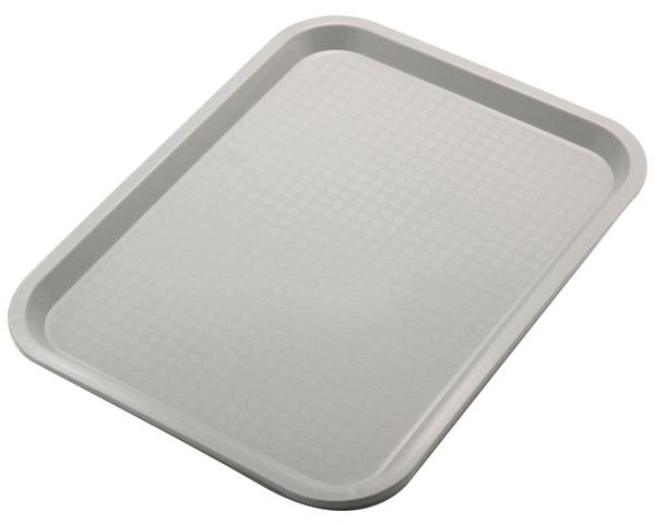 Biergartentablett, einfache Ausführung, Polypropylen, 45/ 35/ 2 cm, Fb.: grau
