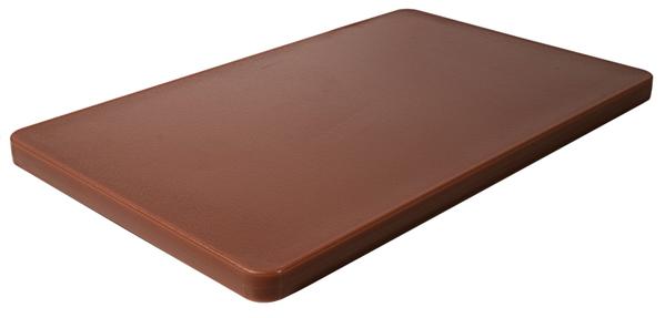 HACCP Schneidbrett m. Füßchen, hochdicht, Polyethylen, 53 x 32,5 x 2,5 cm, Fb.: braun