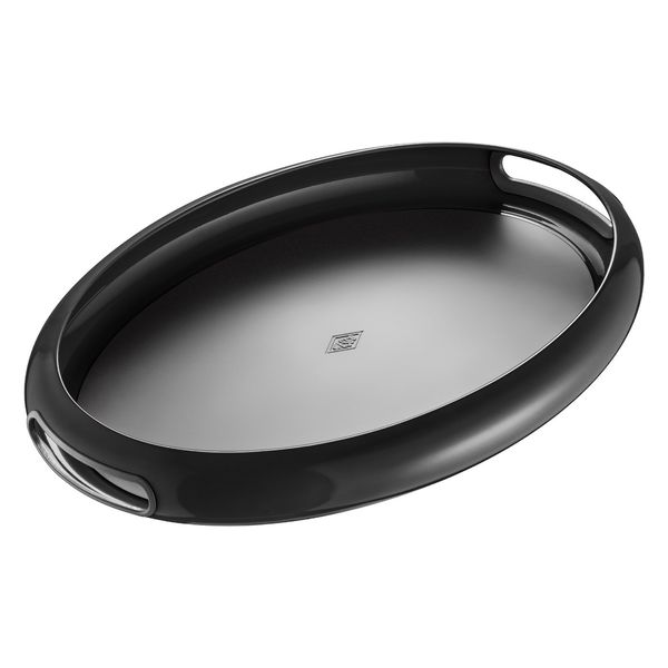 WESCO Tableware Spacy Tray Oval : 62 Schwarz, B: 50 x H: 5,3 x T: 35 cm